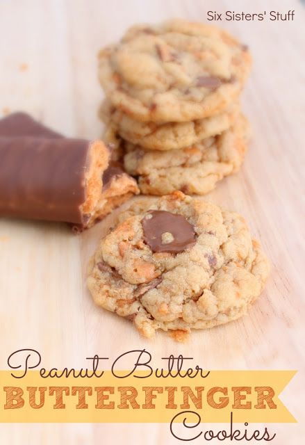 Peanut Butter Butterfinger Cookies Recipe (With Truvia Baking Blend) | Six Sisters' Stuff