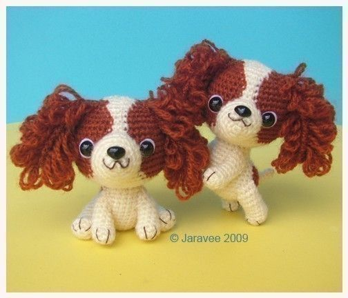 King Charles Cavalier Spaniel Puppy - PDF Crochet Pattern - etsy