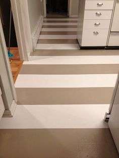 how to paint linoleum floors...best blog post I've seen about this yet...definitely gonna try this in our basement!!!