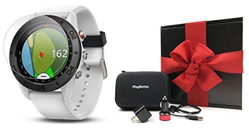 Garmin Approach S60 (White) Gift Box Bundle Includes