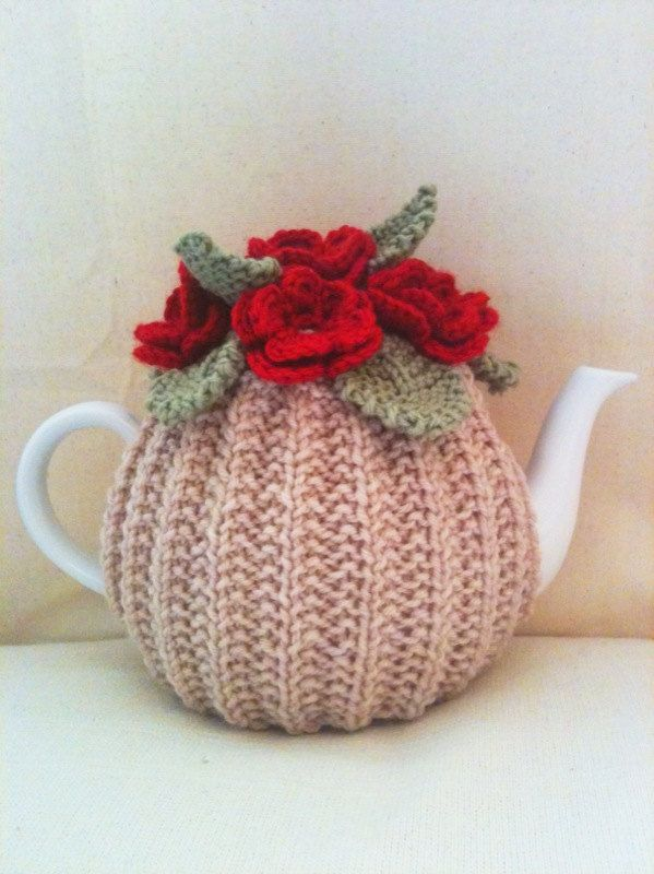 Knitting Rose Stitch : Images about tea cosies on pinterest crochet
