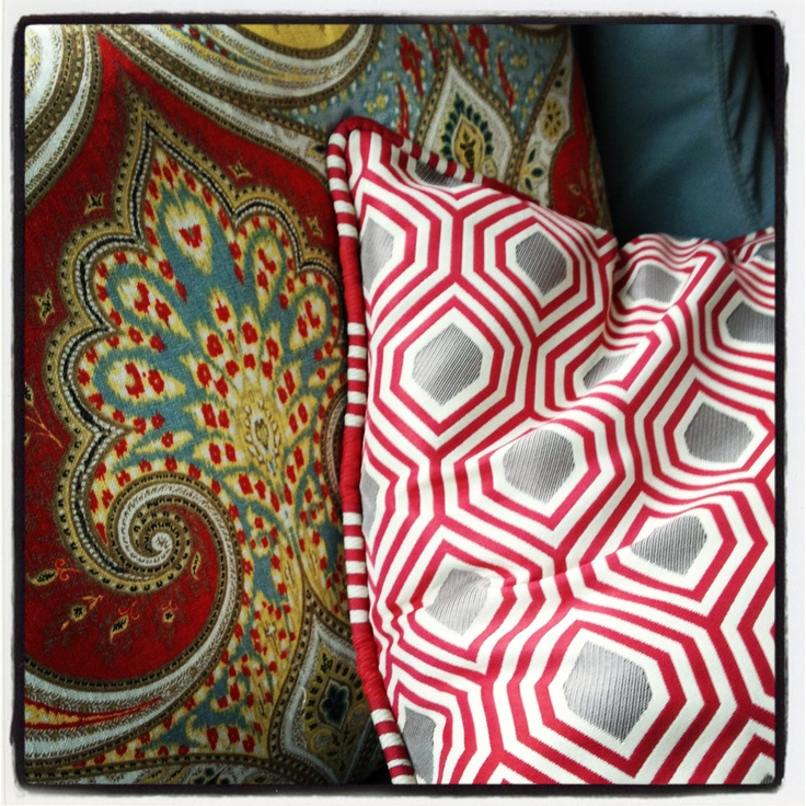 Kravet - pillows on the porch