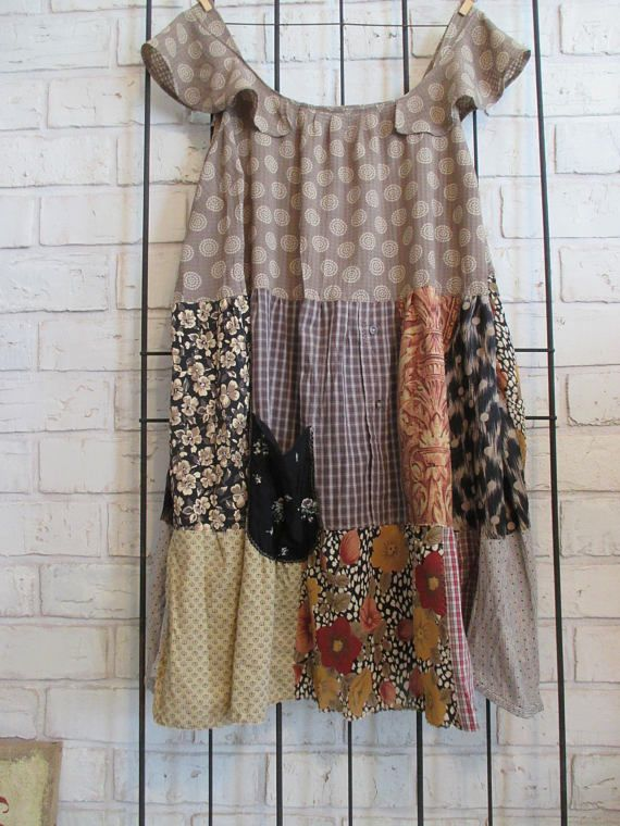 recycled, flirty, funky, feminine, patchwork, playful clothes, hand created