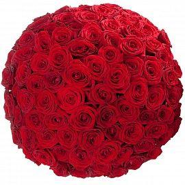 Букет 101 роза Гран При доставка по Москве, купить 101 розу срочно