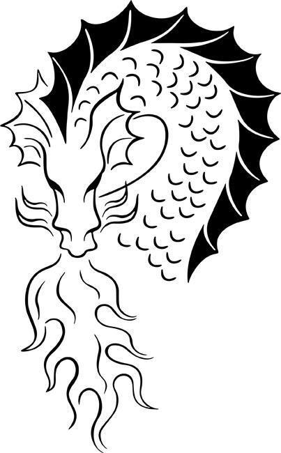 Coiling Dragon Stencil by Crafty Stencils