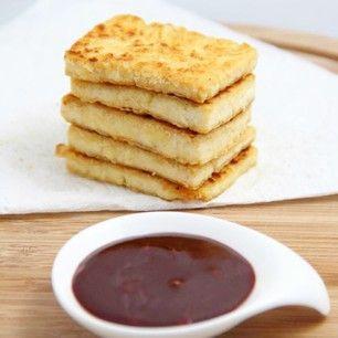 Golden Tofu with Korean Dipping Sauce - perfect for vegan and vegetarian food lovers!