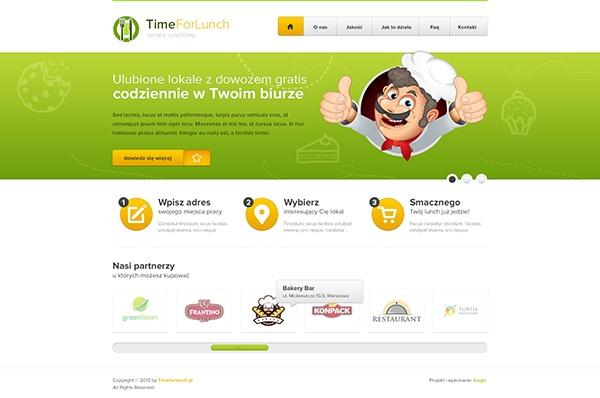 Timeforlunch.pl - Food service by Dawid Bielski, via Behance