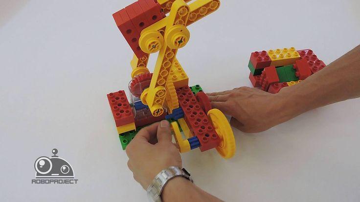 Лего Первые механизмы - Перекидыватель деталей