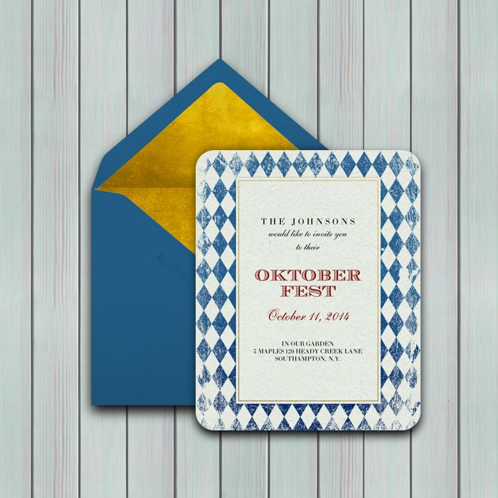 Traditional Bavarian Oktoberfest Design #oktoberfest #invitation #einladung  More