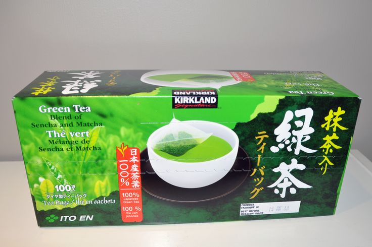 Kirkland brand Green Tea from Costco... A blend of Sencha and Matcha green teas recommended by my naturopath.