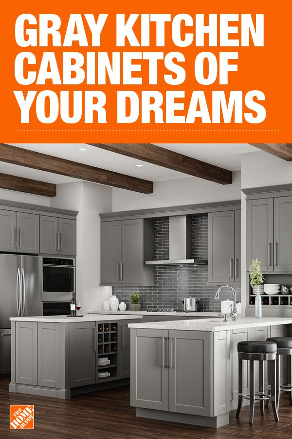 The Home Depot Has Everything You Need For Your Home Improvement Projects Click To Learn More Home Depot Kitchen Kitchen Cabinet Design Grey Kitchen Cabinets