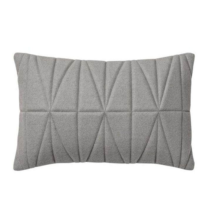 Quilted Cushion Felt Grey