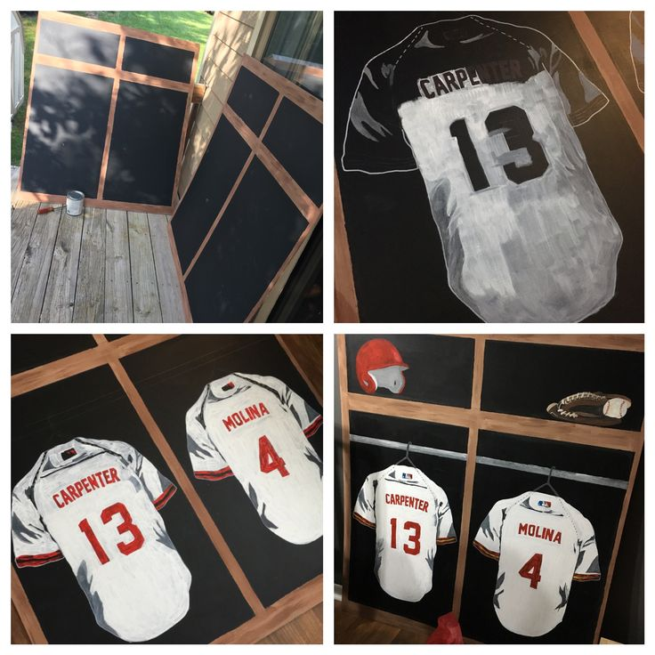 BaseballWedding Plywood Painted With Chalkboard Paint And Regular Acrylic Baseball Locker Room