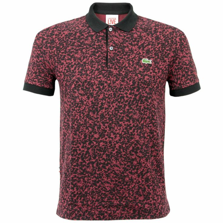 Lacoste Live Ultraslim Fit Printed Pinot Polo Shirt PH3625 YYW