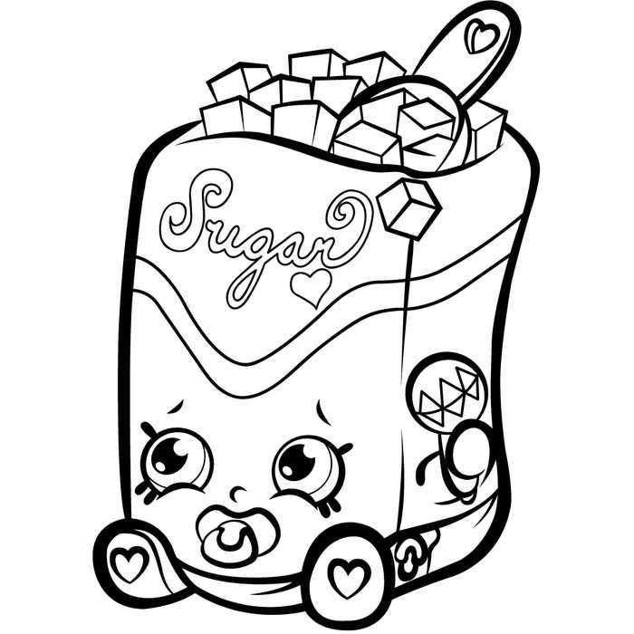 Shopkins Season 1 Sugar Lump Coloring Page Shopkin Coloring Pages, Shopkins  Colouring Pages, Shopkins Colouring Book