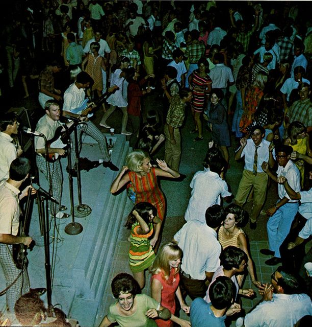 Friday night college party, Bakersfield, California, 1968.  Taken from Bakersfield College's Raconteur Yearbook, Class Of 1968.