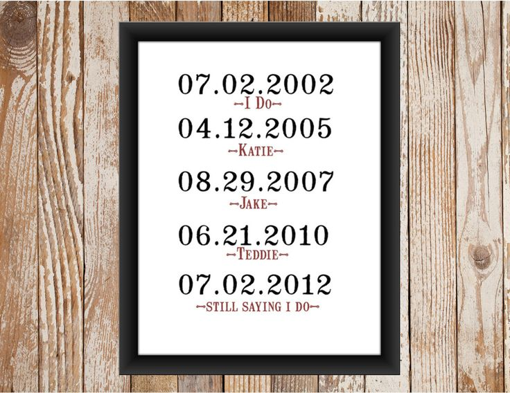 What a Difference a Day Makes Vow Renewal Print. $12.00, via Etsy.