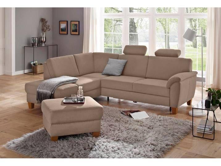 Home Affaire Eck Couch Alta Braun Komfortabler Federkern Ecksofas Sofa Ecksofa Schlaffunktion
