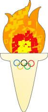 Winter Olympics Games and Crafts: use bottom holder as template, make fire from crumbled tissue paper