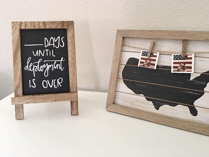 I absolutely LOVED making this deployment countdown chalkboard - I hear they are a must!  by craftycalligrapher