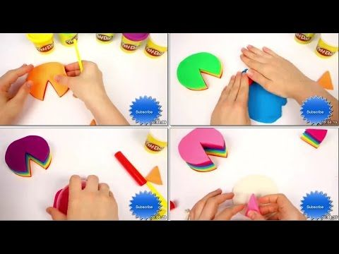How to make Rainbow Cake   Play DOH   part 1