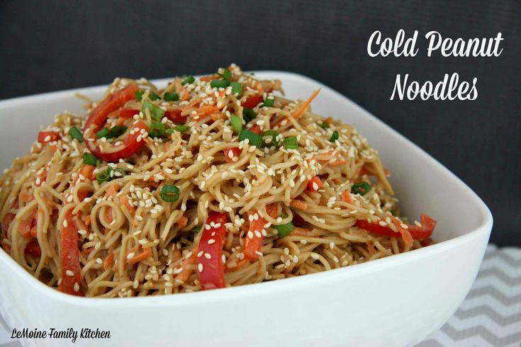 Cold Peanut Noodles | I really love a good cold noodle dish, especially with Asian flare and these Cold Peanut Noodles totally hit it on the head! #AsianInspiration @anglemoine