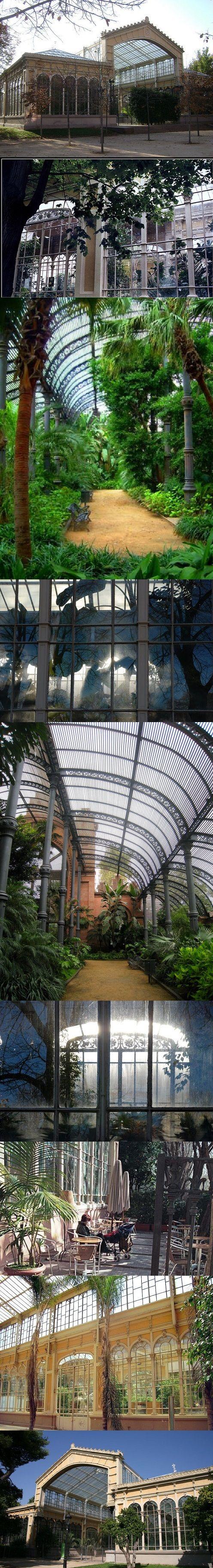 L'Hivernacle en el Parc de la Ciutadella , Barcelona.