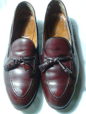 afd3849b0348d Alden-Burgundy-Calfskin-663-Tassel-Dress-Loafers-Size-10-5-C-E-Mens-Shoes