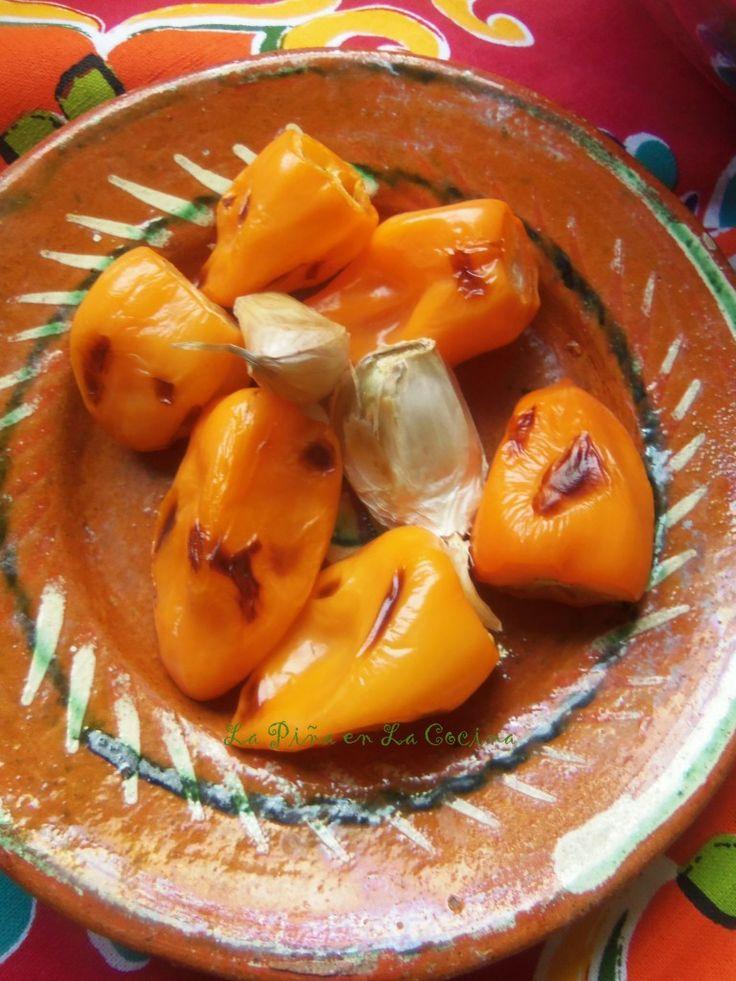 Roasted Habanero-Garlic Salsa