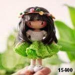 MUÑECA / DOLL   VER MAS MUÑECAS   VERPATRÓN 15400      lana negra   lana blanca   lana beige   lana negra   lana verde   ojos    guata para el relleno   ganchillo y aguja de lana