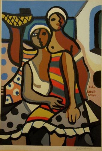 Two women - Illustration - Di Cavalcanti.                                                                                                                                                      Mais