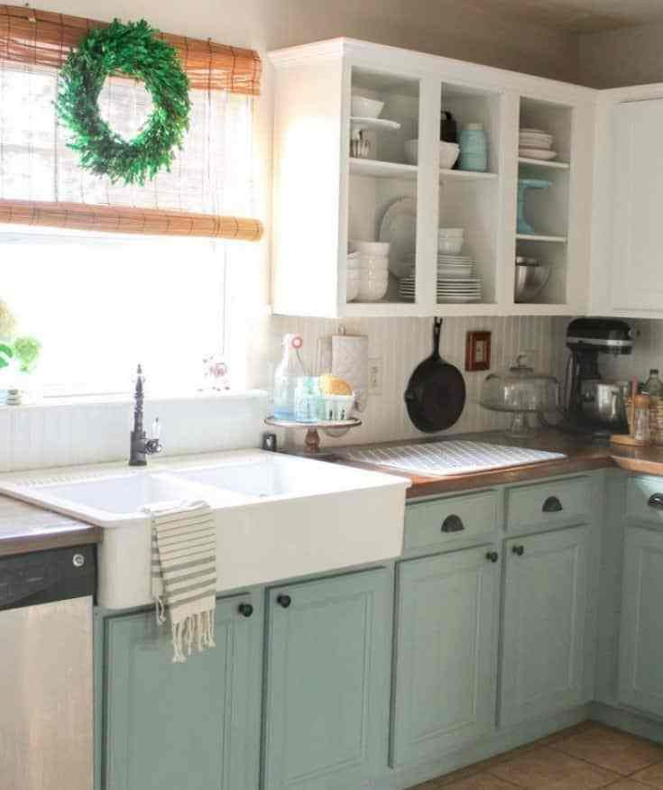Kitchen Cabinet Makeover Ideas On A Budget Chalk Paint Kitchen Cabinets Home Kitchens Kitchen Cabinet Design