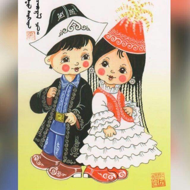 Марта мастер, дети казахские рисунок