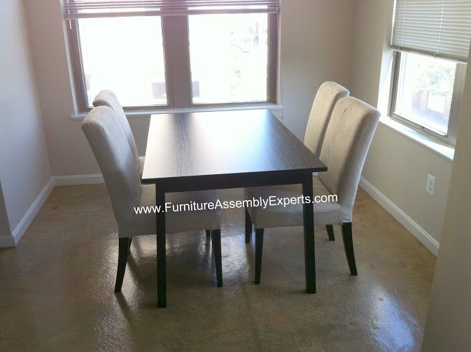 Ikea dining table set assembled in annapolis md by for Ikea arlington va