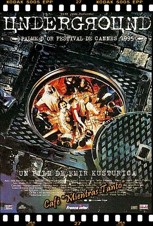 "Cine Sala ""Charles Chaplin"" - Underground (1995) - Ingresa a la sala pulsando el Link: http://cine-sala-a01-jcp.blogspot.com/2016/04/underground-1995-dir-emir-kusturica.html"