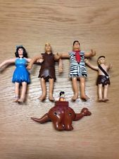 "The Flintstones Movie 5"" Bendable Figures Joblot Fred Barney Betty Bam Bam 1993"