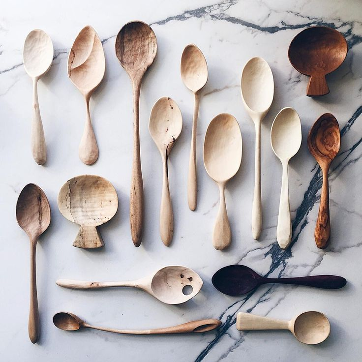 """3,456 Likes, 42 Comments - Wood~Woven (@woodwoven) on Instagram: """"A collection of unique hand carved spoons heading to 3⭐️ chef @alainducasse 's dining room. I have…"""""""