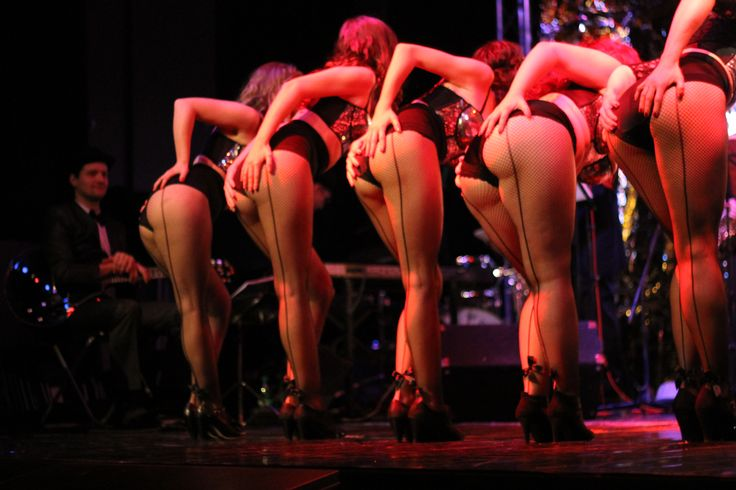 Girls in action at our first ever show Burlesque Night! <3