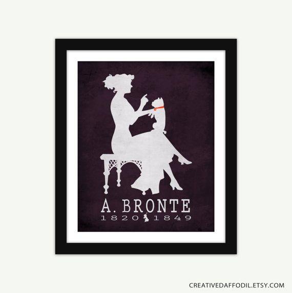 Anne Bronte Agnes Grey Literature Art Print  by CreativeDaffodil, $16.00