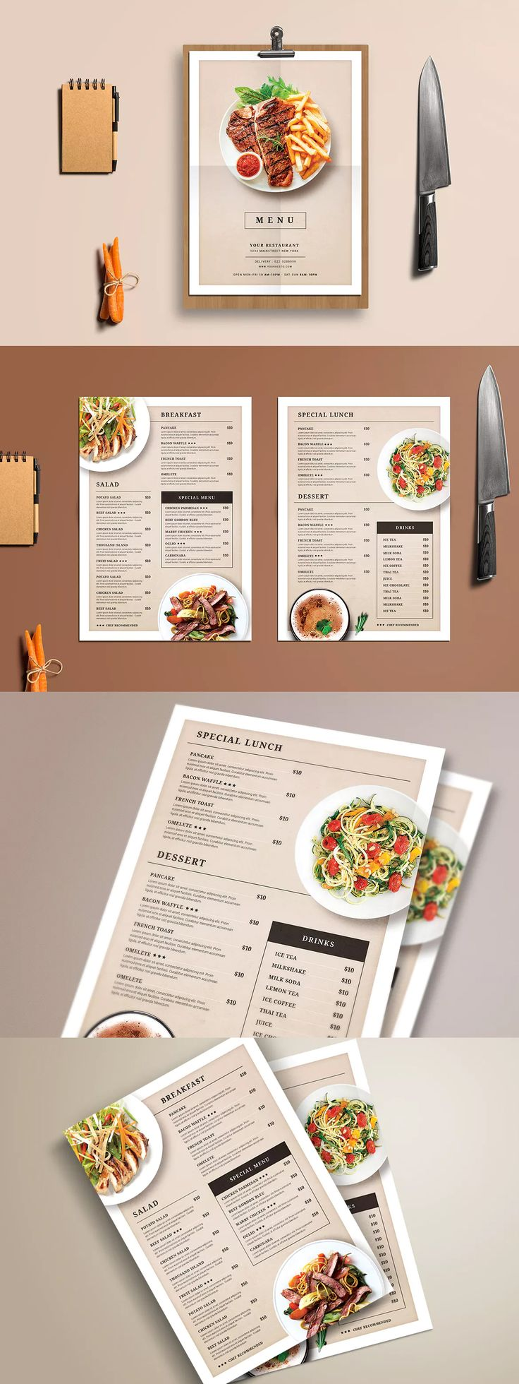 Modern Restaurant Food Menu Template PSD
