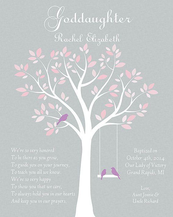 Gift For Goddaughter Goddaughter Gift By Goldhouseprints