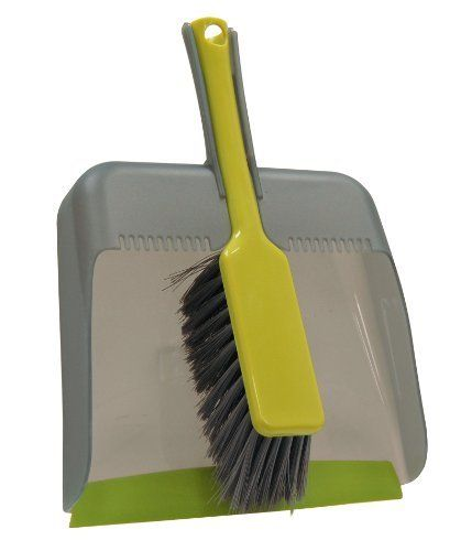 Way Clean 33056 Dustpan Set by Way Clean. $11.05. Brush snaps inot dustpan handle for storage. Hanging loop for easy storage. Rubber lip prevents dirt from getting under dustpan. Brush tip angled to get into corners. Streamlined desing and practically in one. Our dustpan set features a wide 11inch openning iwht a rubber lip that prevents dirt from getting underneath the dustpan. The brush snaps into the duspan hanlde for convenient storage. The brush bristles are angles at te...