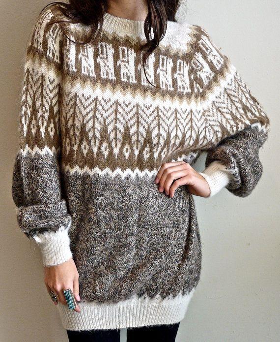 Vintage Alpaca Sweater at PrismOfThreads on etsy
