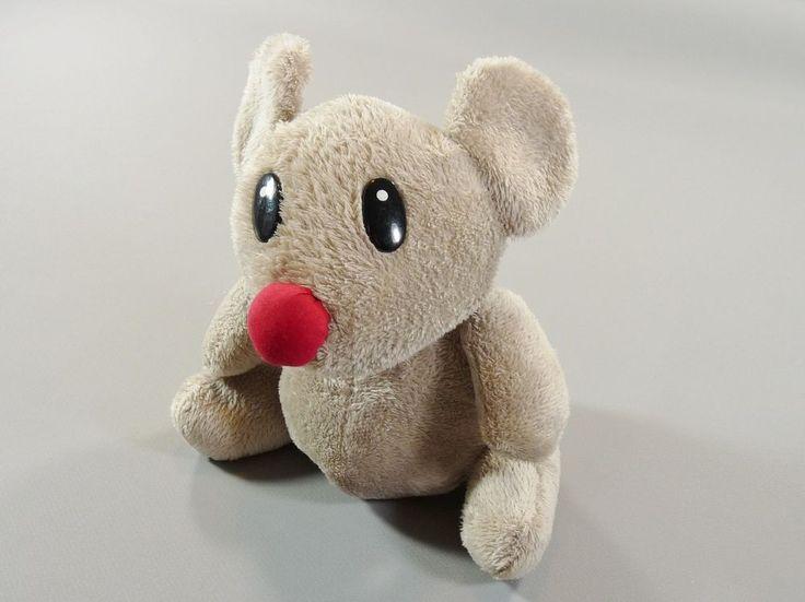 Doudou souris grise nez rouge Courtepaille 20 cm