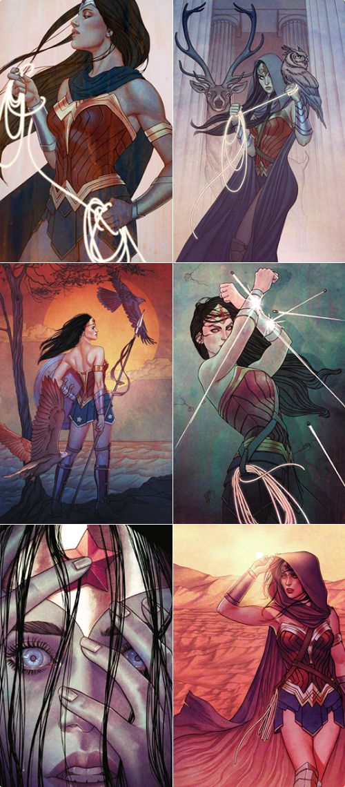 Wonder Woman #07-12 variant covers by Jenny Frison