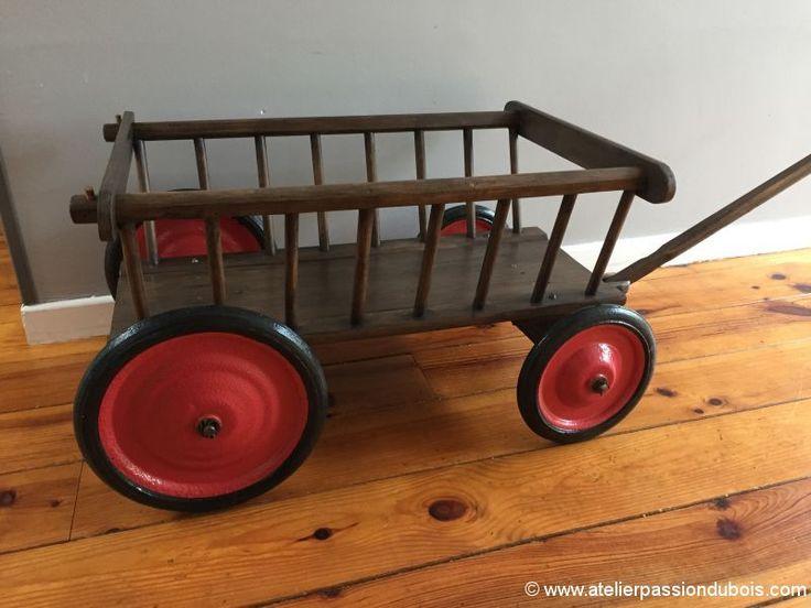 les 25 meilleures id es de la cat gorie chariot bois sur. Black Bedroom Furniture Sets. Home Design Ideas