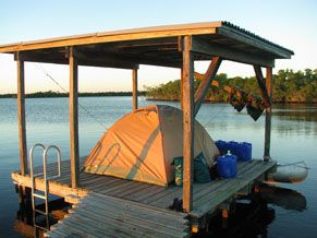 Chickee - Elevated camping in the Everglades National Park, sounds like a great idea!