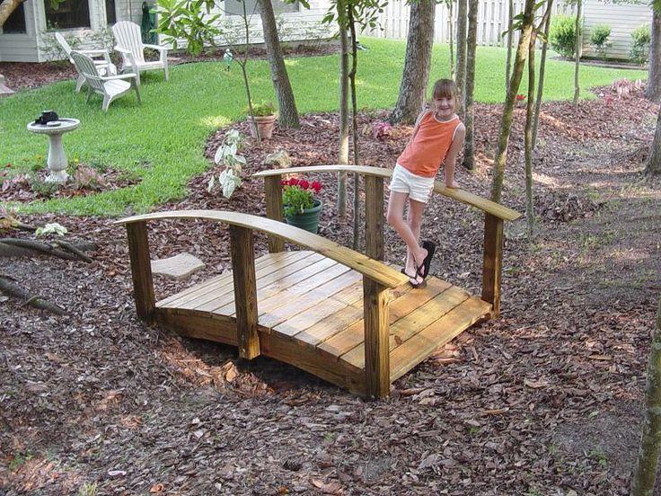building a temporary foot bridge over a small creek foot bridge pinterest a small. Black Bedroom Furniture Sets. Home Design Ideas