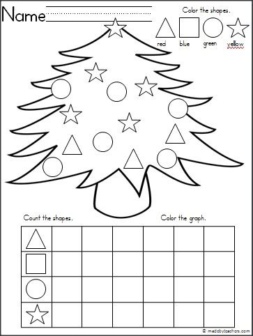 This+is+a+Christmas+tree+themed+activity+for+your+Kindergarten+students+to+practice+shapes+and+graphing.+ It's+a+wonderful+math+activity+for+any+winter+month.+ Download+it+for+free.