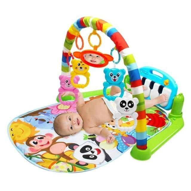 Kids Baby Musical Music Keyboard Piano Play Mat Fitness Educational Pad Gym Toys
